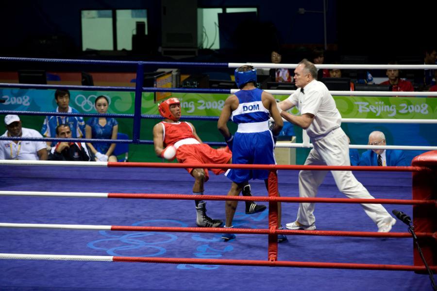 Walka bokserska na igrzyskach w Pekinie