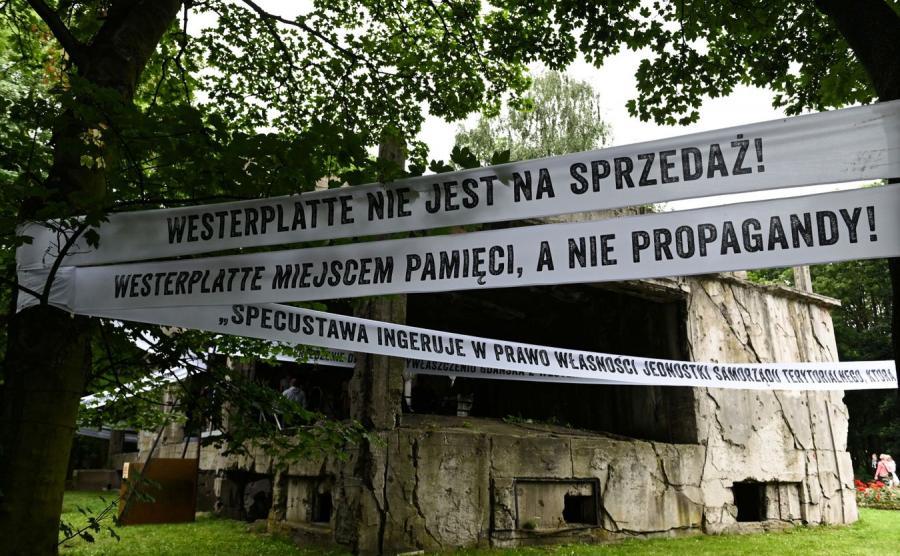 Transparenty na Westerplatte