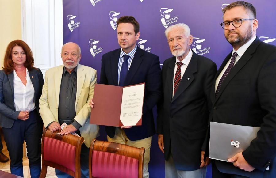 Podpisanie apelu o godne uczczenie 75. rocznicy Powstania Warszawskiego