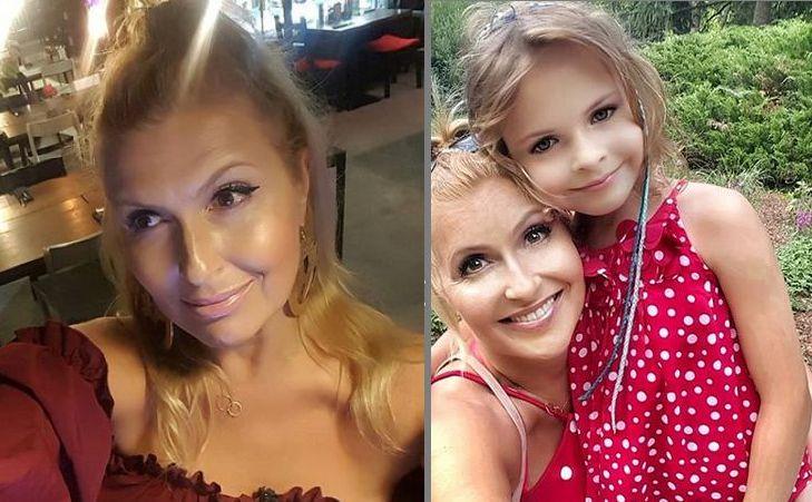 Katarzyna Skrzynecka z córką Alikią