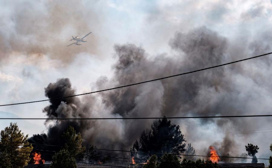 pożar w Hiszpanii