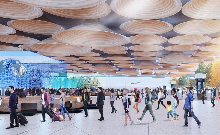 Wizualizacja terminala według Woods Baggot