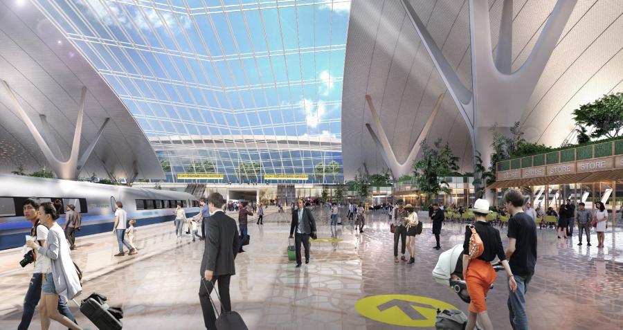Wnętrze terminala wedłg KPF