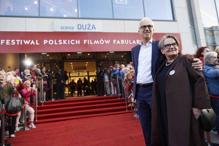 Agnieszka Holland i Stanisław Dziedzic na festiwalu filmowym w Gdyni