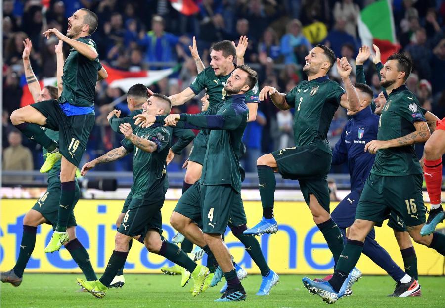 Radość włoskich piłkarzy