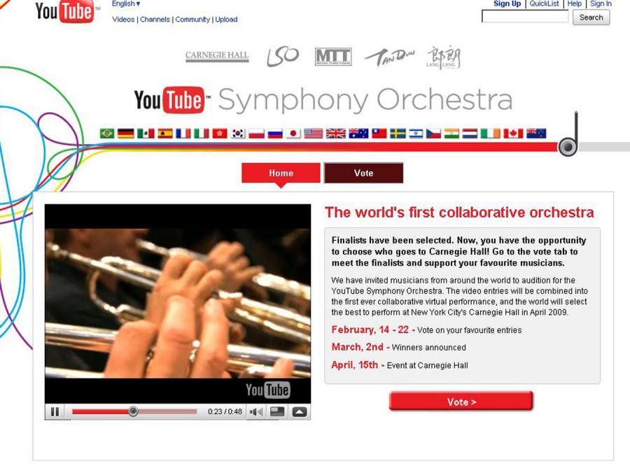 Wybierz skład orkiestry YouTube
