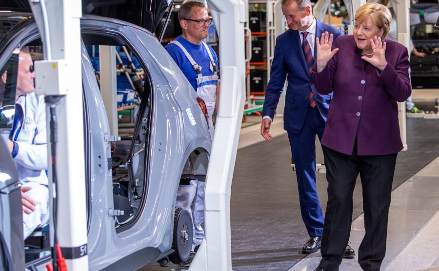 Kanclerz Angel Merkel była pod wrażeniem fabryki w Zwickau