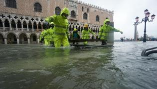 Wenecja podczas powodzi