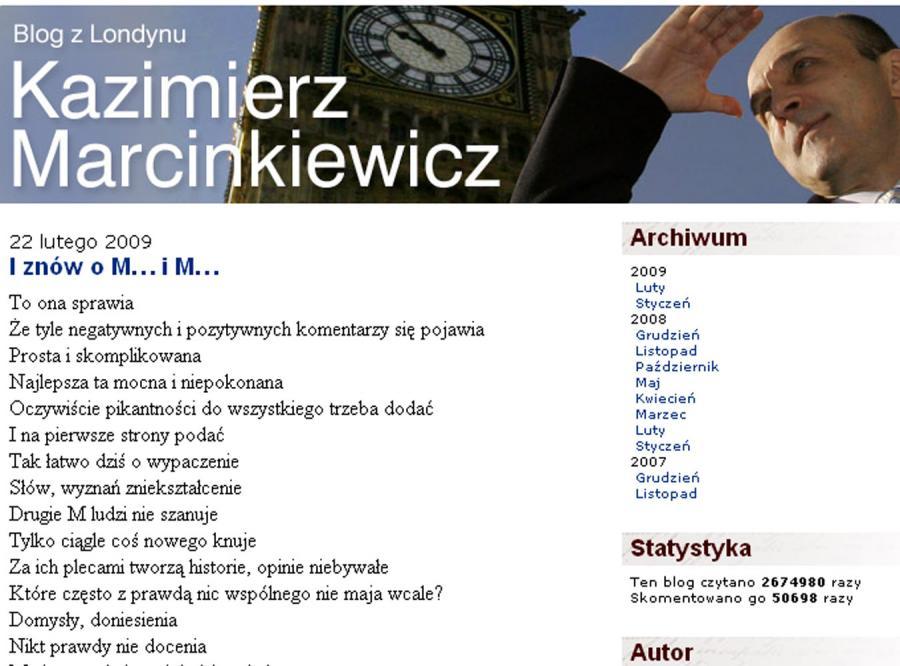 Wybranka Marcinkiewicza jest poetką