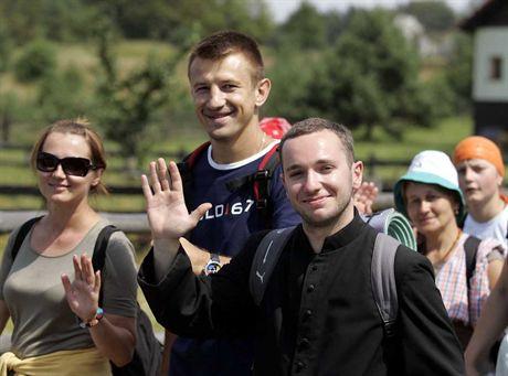 08.08.2007  -  Zelazko k. WolbromPiergrzymka ze Slemienia na Jasna Gore , w ktorej udzial bierze Tomasz Adamek z rodzina .Fot. Irek Dorozanski / EDYTOR.net