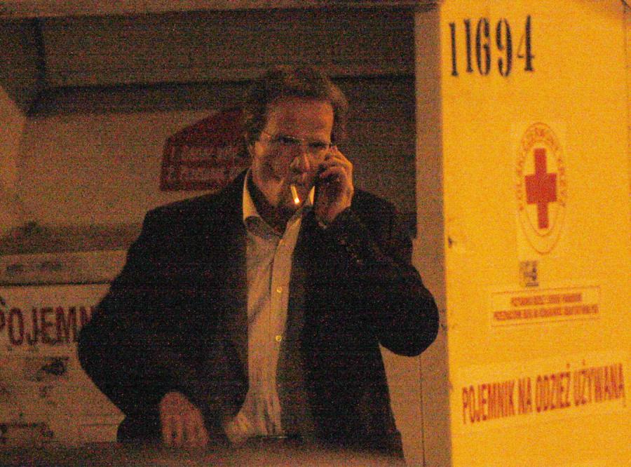 Christopher Lambert kręci film w Warszawie - i pali jak smok