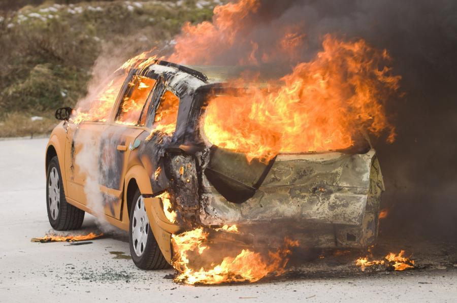 Ile samochodów spalono w noc sylwestrową?