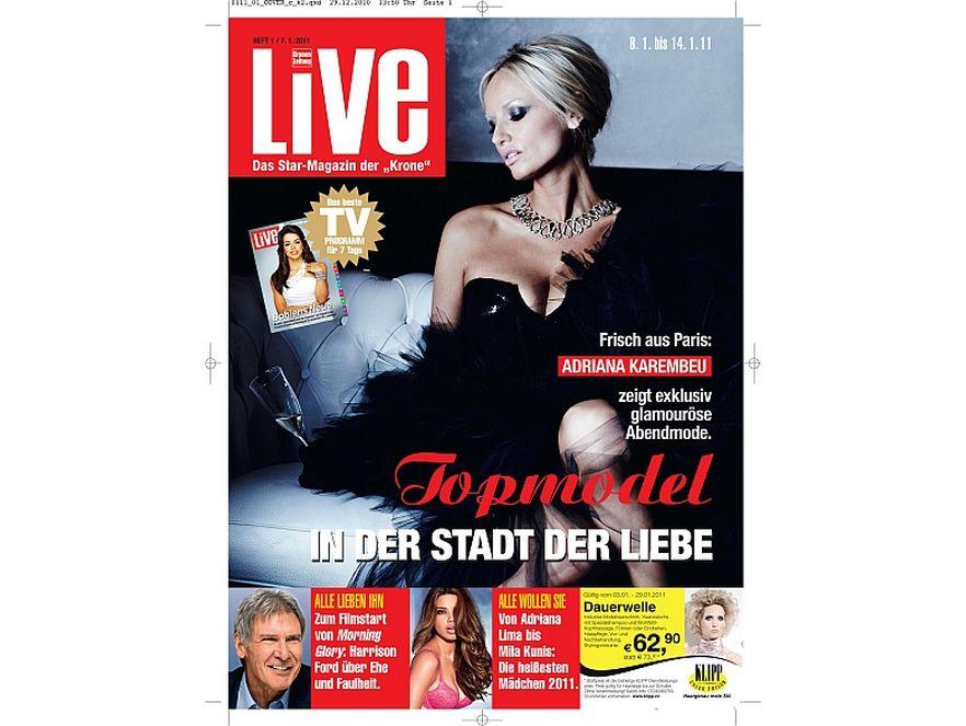 """Adriana Karembeu w sukni Ewy Minge na okładce magazynu """"Live"""""""