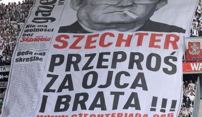 """Transparent kibiców Legii skierowana do naczelnego """"Gazety Wyborczej"""""""