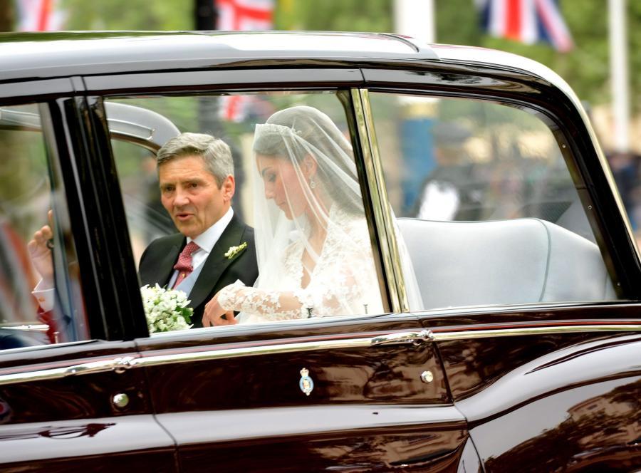 Kate Middleton z ojcem w drodze do Opactwa Westminsterskiego