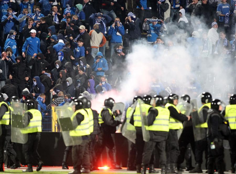Kibole zdemolowali stadion w Bydgoszczy