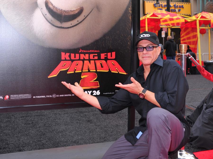 Jean-Claude Van Damme na amerykańskiej premierze \