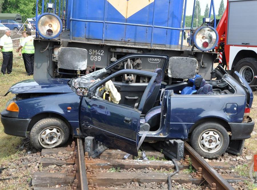 Zderzenie pociągu z autem