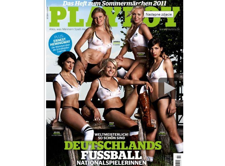 Niemieckie piłkarki na okładce Playboya