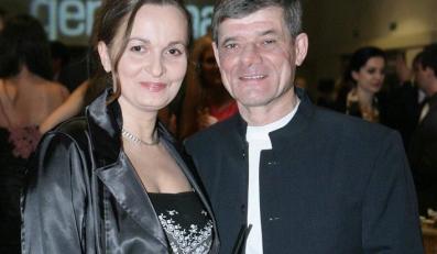 Henryk Gołębiewski z żoną