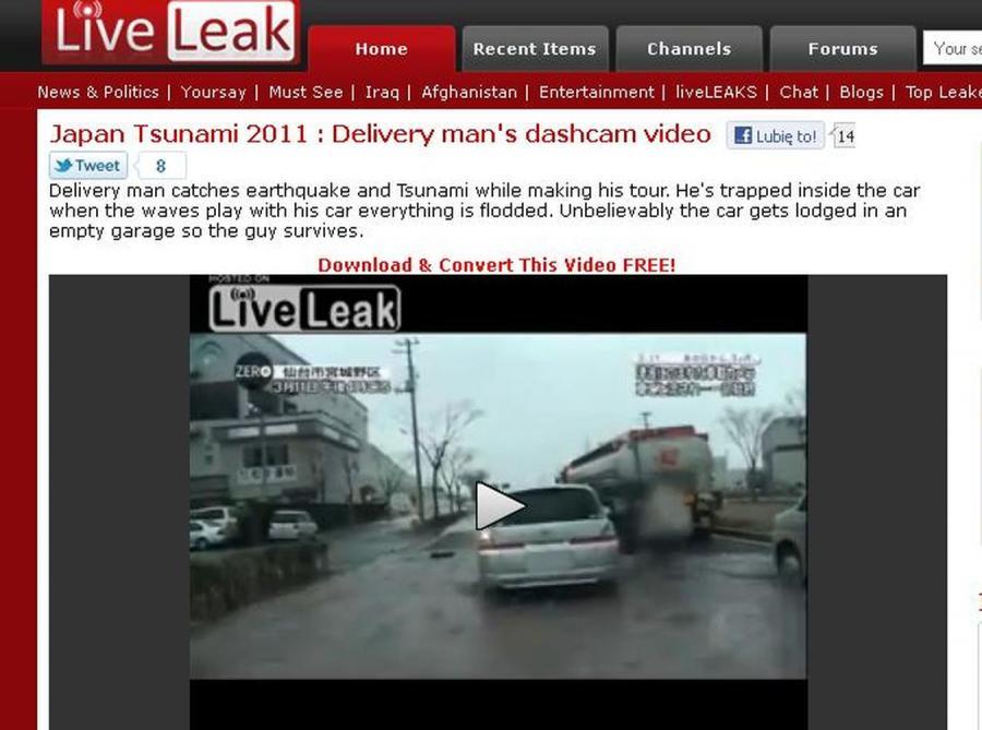 Mordercze tsunami w Japonii