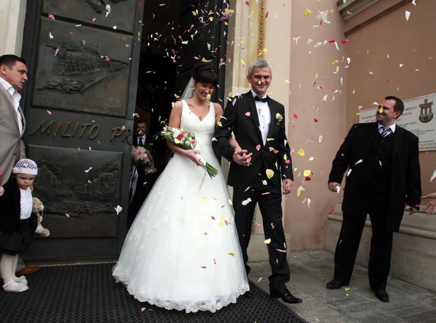 Jacek Magiera i jego żona Magdalena