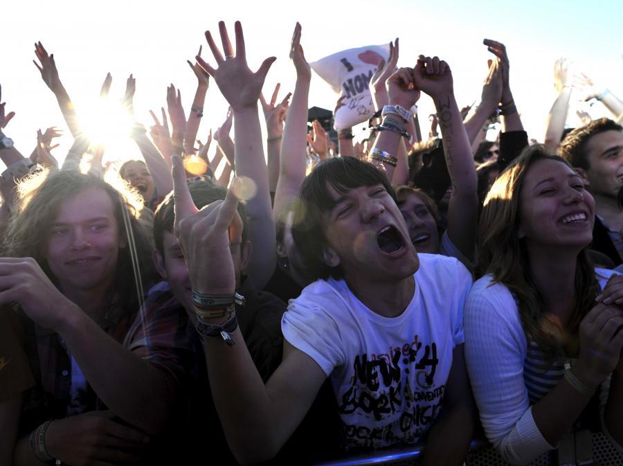Publiczność podczas koncertu brytyjskiej grupy The Wombats