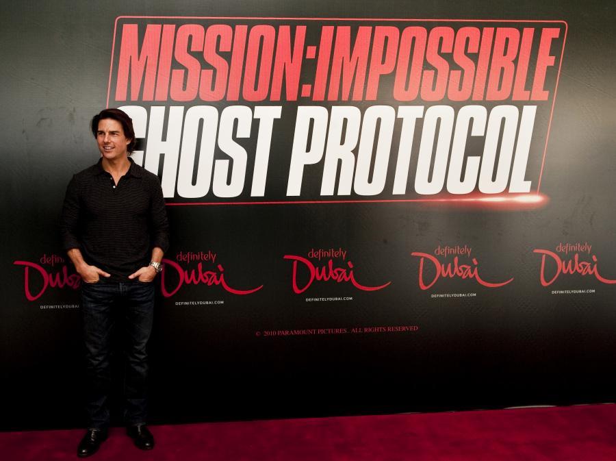 Tom Cruise na konferencji prasowej w Dubaju