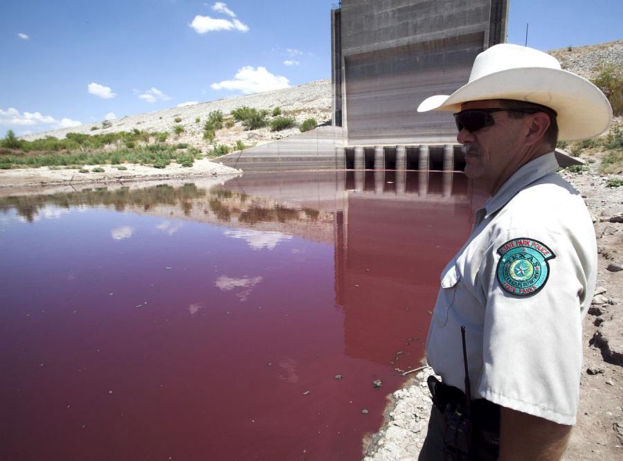 Jezioro w pobliżu San Angelo w Teksasie
