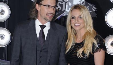 Britney Spears z partnerem Jasonem Trawickiem