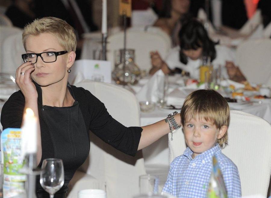 Joanna Racewicz z synkiem