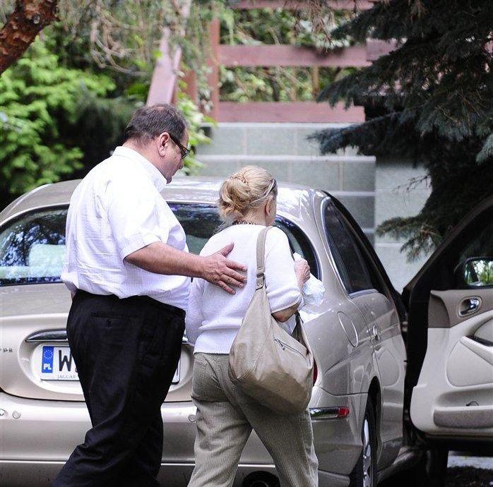 Ryszard Kalisz z mamą