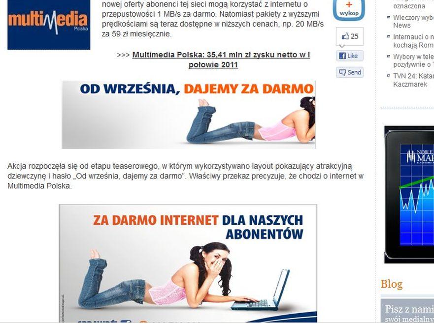 Kontrowersyjna reklama. Źródło: www.wirtualnemedia.pl