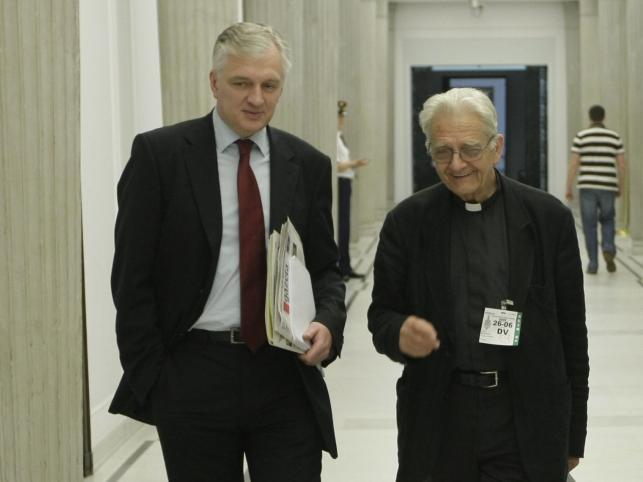 Jarosław Gowin i ks. Adam Boniecki