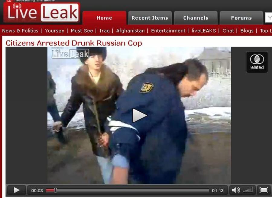 Obywatele aresztowali pijanego...policjanta
