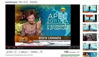Obsceniczny gest dziennikarki Tatiany Limanowej na antenie