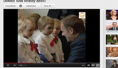 Donald Tusk i dzieci. Śmiechu nie było...