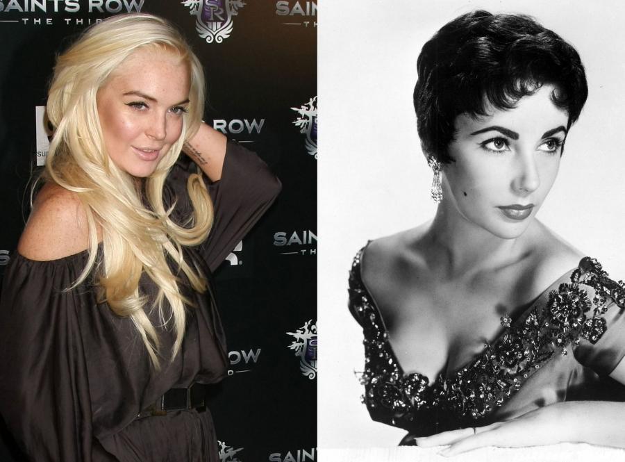 Lindsay Lohan i Elizabeth Taylor