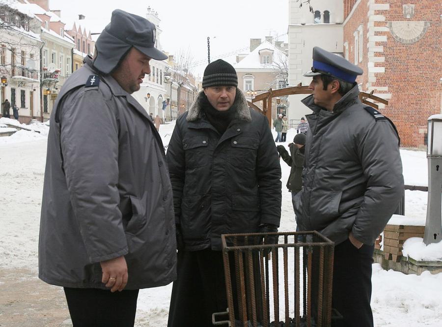 Artur Żmijewski, Piotr Polk i Michał Piela w \