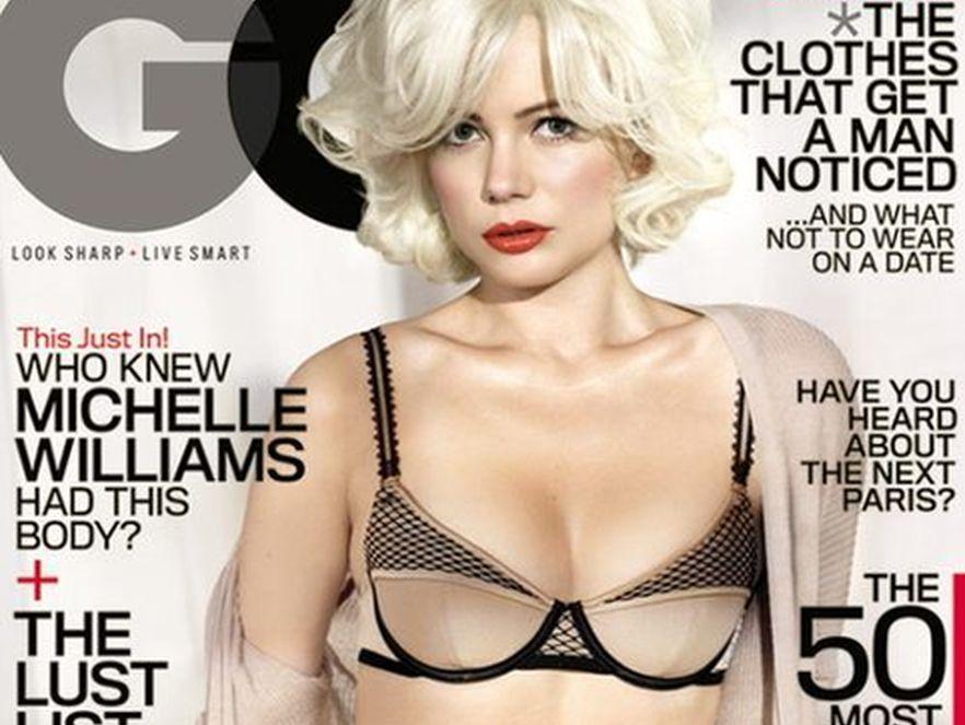 "Michelle Williams jako Marilyn Monroe na okładce magazynu ""GQ"". Źródło: GQ"