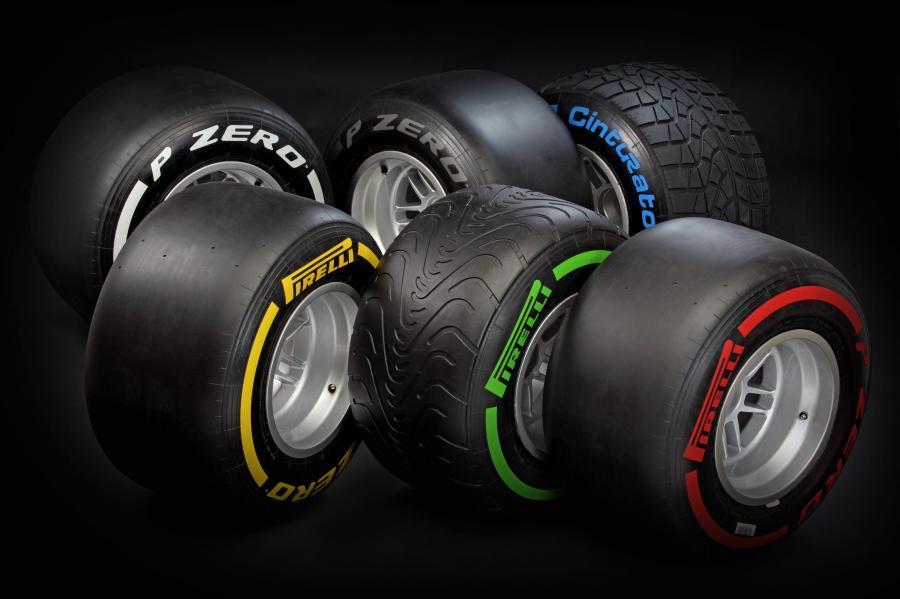 Opony Pirelli dla F1