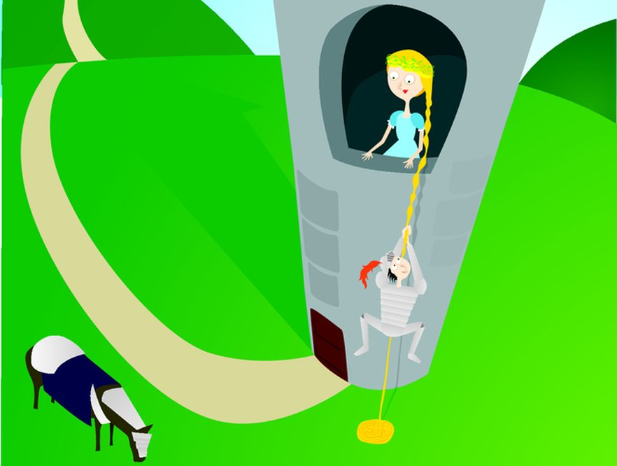 Roszpunka - długowłosa księżniczka uwięziona w wieży