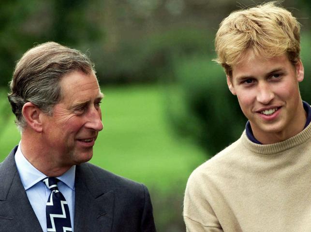 Książę William z ojcem