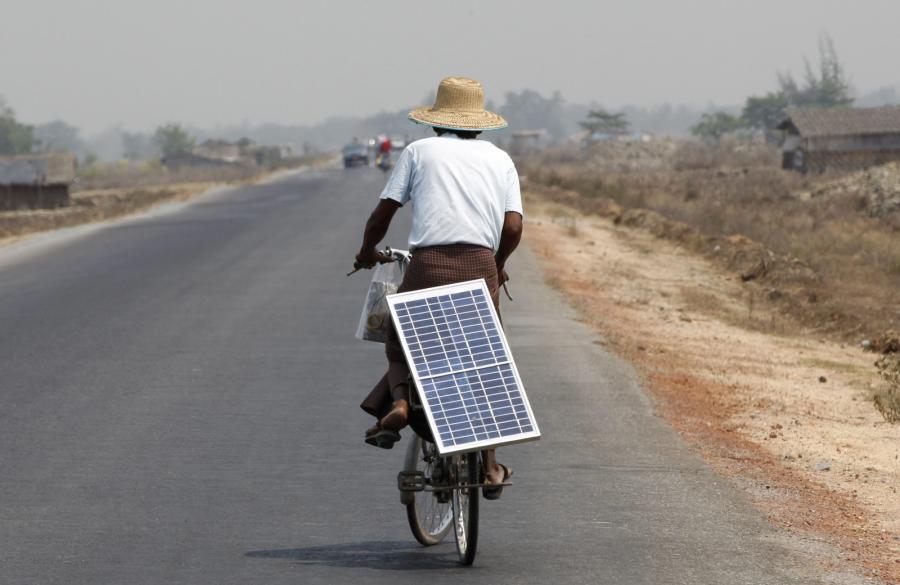 Rower napędzany energią słoneczną