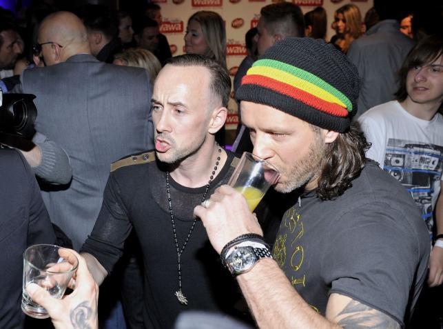 Radek Majdan i Nergal na jednej imprezie