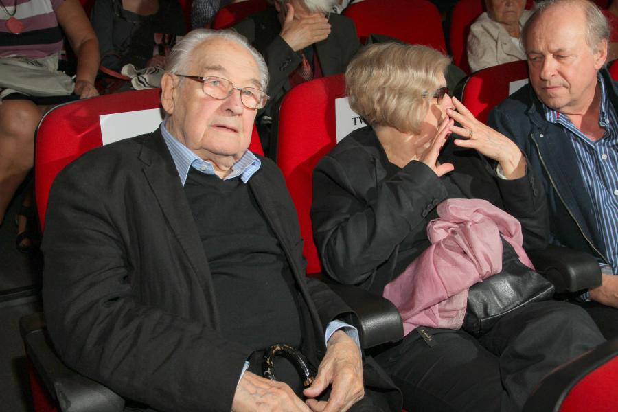 Andrzej Wajda na premierze \