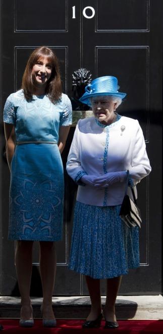 Samantha Cameron i królowa Elżbieta II
