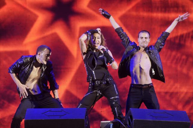 Sabrina podczas koncertu Disco Fever w Kołobrzegu