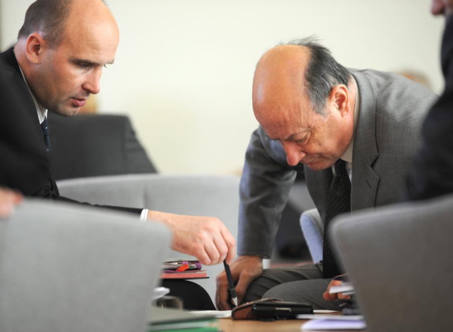Minister finansów Jacek Rostowski i minister środowiska Marcin Korolec