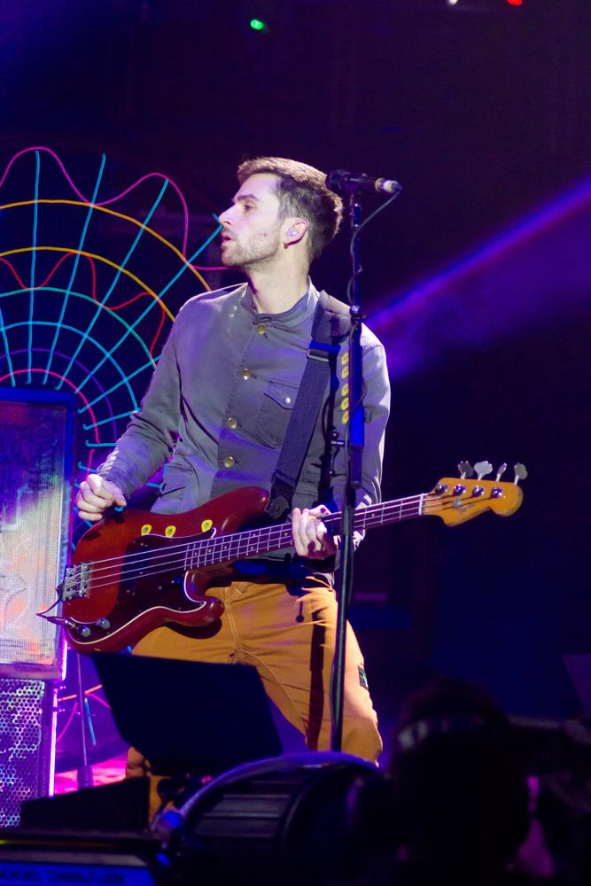 Coldplay podczas koncertu w hali O2 Arena w Londynie
